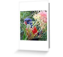The Flower Eater Greeting Card