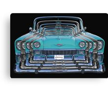 Multiple Blue Chevy Belair Abstract Canvas Print