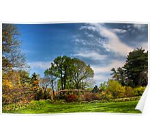 garden sky in hdr Poster