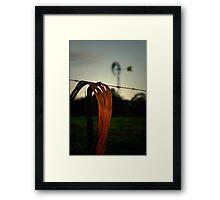 Aussie bush evening Framed Print