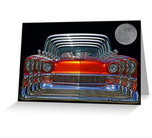 Multiple Orange Chevy Belair Abstract Greeting Card