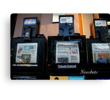 Newsbots Canvas Print