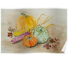 Fall Still Life Poster