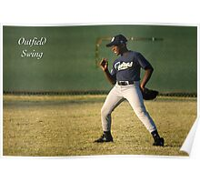Outfield Swing Poster