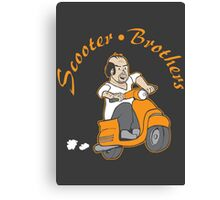 We are Scooter Brothers! Canvas Print