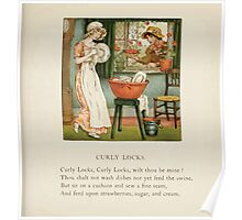 The April Baby's Book of Tunes by Elizabeth art Kate Greenaway 1900 0095 Curly Locks Poster