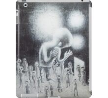 in her absence. graphite, oil on wood. 24''x28''. adam sturch iPad Case/Skin