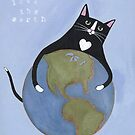 Love The Earth Cat by Ryan Conners