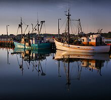 Lakes Entrance Fishing Boats by John Vandeven
