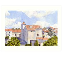 The Old Chateau at Montbron Art Print