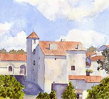 The Old Chateau at Montbron by ian osborne