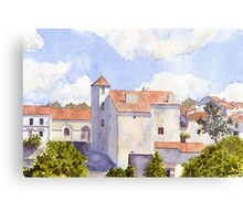 The Old Chateau at Montbron Canvas Print