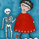 Watch Your Step - Frida and Skeleton by Ryan Conners
