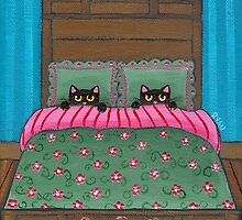 Scaredy Cats in Bed by Ryan Conners