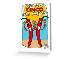 Cinco de Mayo Chilly Peppers Greeting Card