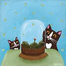 Kitties and a Terrarium by Ryan Conners