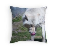 lickin his lips Throw Pillow