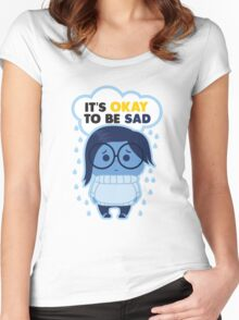 It's Okay to be Sad Women's Fitted Scoop T-Shirt