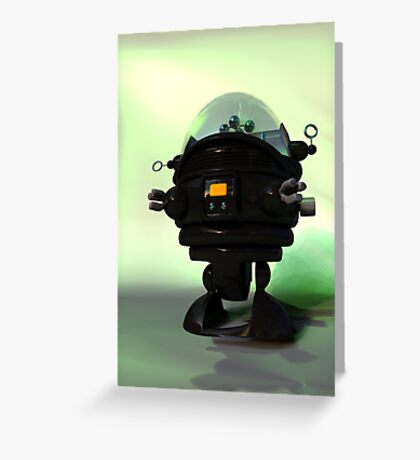 Cute Toy Planet Robot Greeting Card