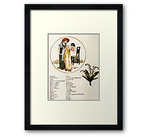 Language of Flowers Kate Greenaway 1884 0044 Descriptions of Specific Flower Significations Framed Print