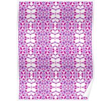 Blue, Pink and White Abstract Design Pattern Poster