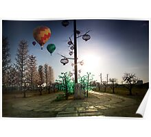 I-city with Hot Balloon Poster