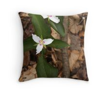 Three Painted Trilliums Throw Pillow