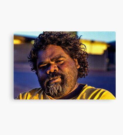 Jonothan Indigenous Tough Guy Canvas Print