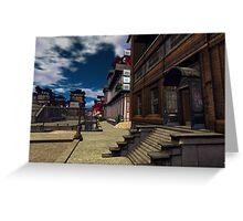 Prefabrica Street Scene Greeting Card