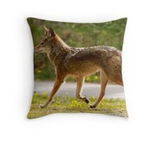 Pacific Spirit Coyote Throw Pillow