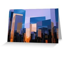 Q-City-One Greeting Card