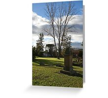 """St Mark""""s Cemetery Greeting Card"""