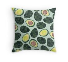 Avocado Addict Throw Pillow