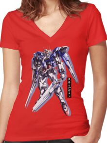Gundam00 Women's Fitted V-Neck T-Shirt