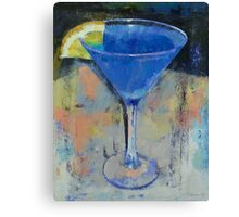 Royal Blue Martini Canvas Print