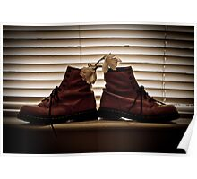 Doc Martens In A Window Poster