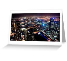 Melbourne night Greeting Card