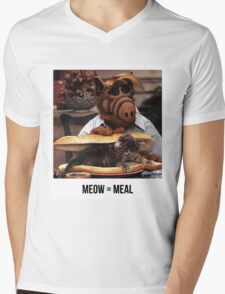 Alf Meow Mens V-Neck T-Shirt