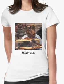 Alf Meow Womens Fitted T-Shirt