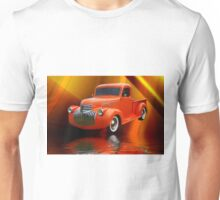 Custom Orange Ford Pick up Abstract Unisex T-Shirt