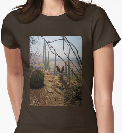 Hare Womens Fitted T-Shirt