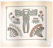 Maurice Verneuil Georges Auriol Alphonse Mucha Art Deco Nouveau Patterns Combinaisons Ornementalis 0051 Poster