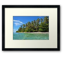 Beach with beautiful tropical vegetation Framed Print