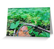 Brown and Green Greeting Card