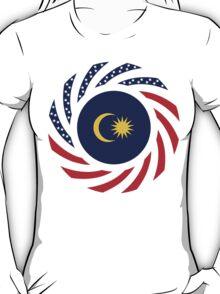 Malaysian American Multinational Patriot Flag Series T-Shirt
