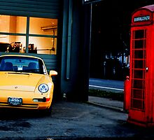 Yellow Car by davetefft