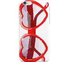 Heart-Shaped Sunglasses in Watercolor - Trendy/Summer/Hipster Style iPhone Case/Skin
