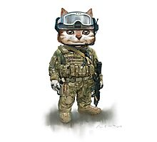 cat the spec ops Photographic Print