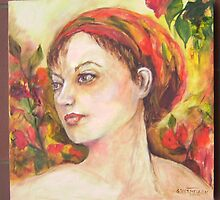 girl with headscarf 1 by Annabel