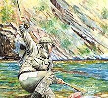 Fly Fisherman by ARTIST4HIRE